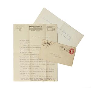 Eugene Debs Signed Letter