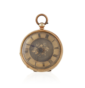 18k Yellow Gold Ladies Pocket Watch