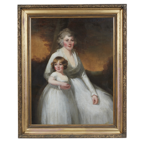 Double Portrait Painting, Attributed to Sir Henry Raeburn (1756-1823),