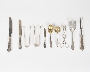 Assorted Sterling Serving Pieces & Flatware