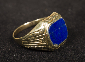 14k Yellow Gold Lapis Ring
