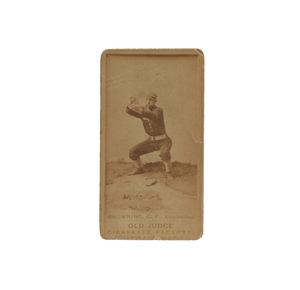 1887 N172 Old Judge Pete Browning (PSA, Good+, 2.5)