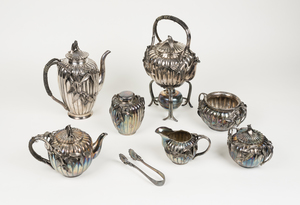 Chinese Silver Plate Tea and Coffee Service