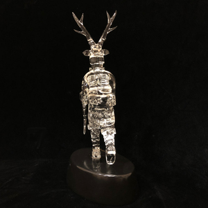 Lewis C. Wilson Glass Figure