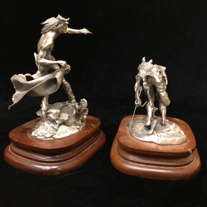 Two Pewter Figurines