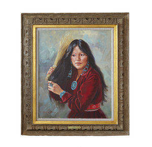 Painting, Claudiine Morrow (b. 1931),
