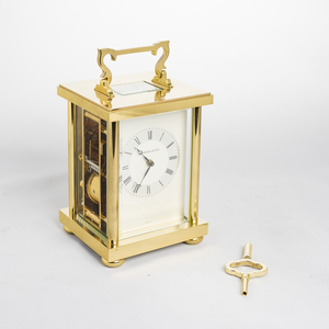 Tiffany and Co. Brass Carriage Clock (Striking)