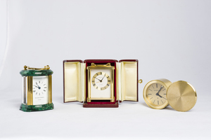 Three Small Clocks by Tiffany and Norman
