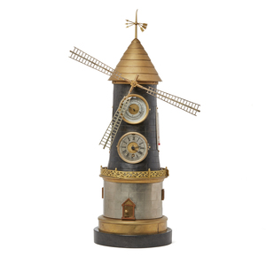 Industrial Style Windmill Clock