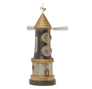 Industrial Style Windmill Clock
