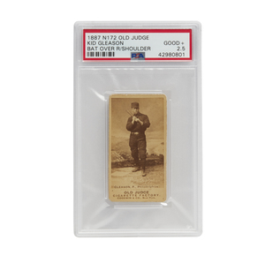 1887 N172 Old Judge Kid Gleason (PSA, Good+, 2.5)