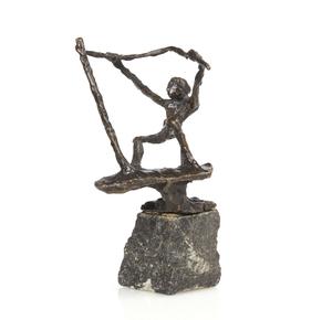 Jits Bakker (Netherlands, 1937-2014), Bronze, Wind Surfer