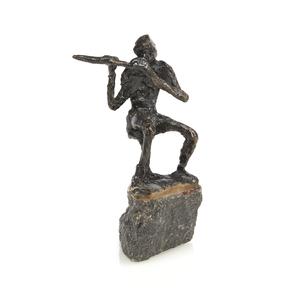 Jits Bakker (Netherlands, 1937-2014), Bronze, Flutist