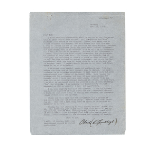 Signed Charles Lindbergh Letter to Pan American Airways, 1967