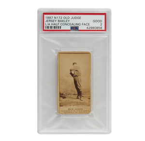 1887 N172 Old Judge Jersey Bakley (PSA, Good, 2)