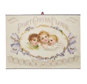 Port Costa Flour 1900 Advertising Calendar