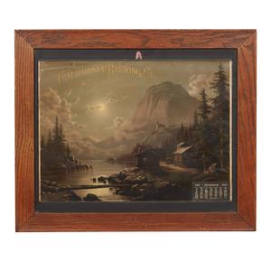 California Brewing Co. 1905 Framed Advertising Calendar