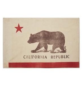 Vintage California Republic Flag (stretched on modern frame)