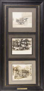 Three Framed Antique Photographs (July 4th, 1915)
