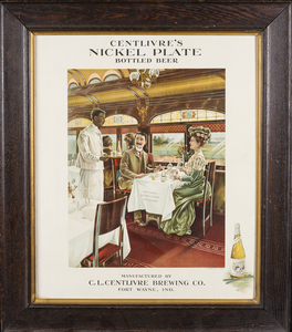 Centlivre Nickel Plate Bottled Beer Advertisement