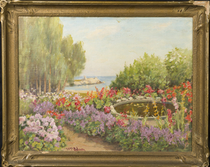 California Painting Garden w/ Pool Lovers Point