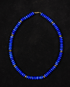 Gold and Blue Lapis Necklace