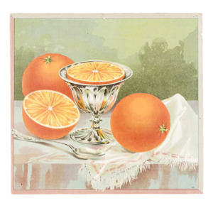 Fruit Label - Unmarked, Still Life with Oranges (Sample)
