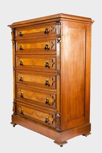 19th Century American Walnut Lockside Highboy