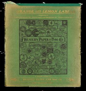 Bound Collection of Sample Orange and Lemon Labels