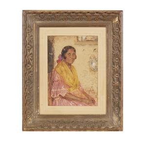George Wynne Apperley (1884-1960), Watercolor Portrait