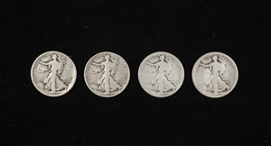 20 Mixed Dates Walking Liberty Half Dollars