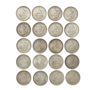 Twenty Mixed Dates Morgan Silver Dollars
