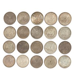 Twenty Mixed Dates Morgan Silver Dollars