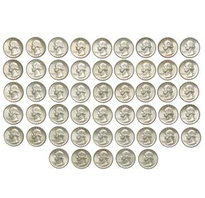 Fifty pre-1964 Silver Quarters