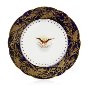 Benjamin Harrison Presidential China Breakfast Plate