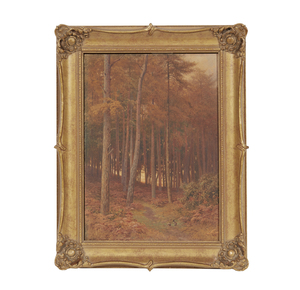 Harry Sutton Palmer (1854-1933), Watercolor, Redwoods
