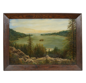 Frances Haines Sweeney (20th century), Painting, Emerald Bay