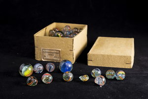 Boxed German Glass Marbles (Victorian Swirl Design)
