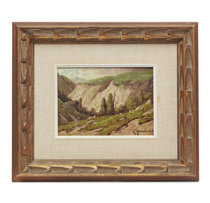 Carl Jonnevold (1856-1955), Painting, Mountain Landscape