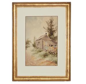 Lorenzo Latimer (1857-1941) Watercolor