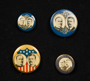 Four McKinley-Roosevelt Campaign Buttons