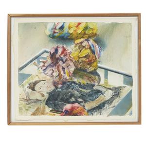 Jerald Silva (b. 1936) Watercolor,