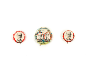 Three Socialist Party Campaign Pins