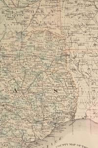 AN ANTIQUE RECONSTRUCTION ERA MAP,