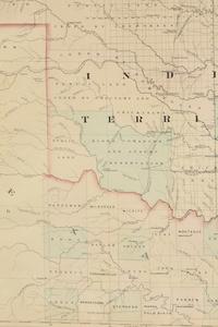 AN ANTIQUE AMERICAN RECONSTRUCTION ERA MAP,