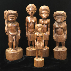 Five New Caledonia Wood Figures
