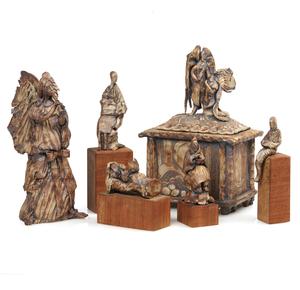 Six Piece Suite of Ceramics, attrib. Ruth Rippon (b. 1927)