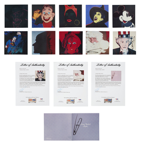 Andy Warhol Signed Announcement Cards,