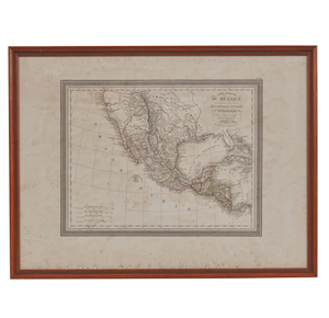 1826 Map of Mexico and Guatemala