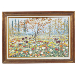 Michele Cascella (1892-1989), Painting, A Field of Flowers